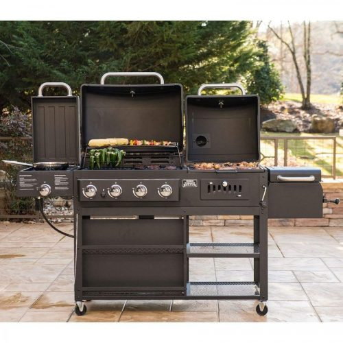 Have Too Many Toys On Your Patio This Beautiful Beast Can Combine Them All With A Four In One Combo Of Gas Charcoal Grill Smoker Box And Infrared