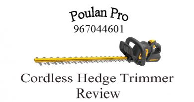 Poulan Pro 967044601 Cordless Hedge Trimmer Review