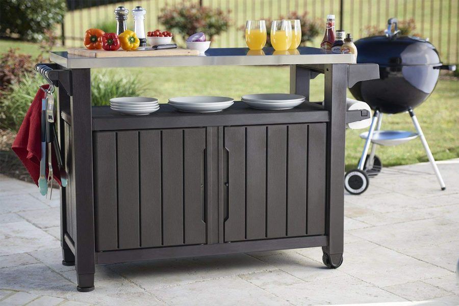 14 Outdoor BBQ Storage Table-Prep Station-Serving Cart