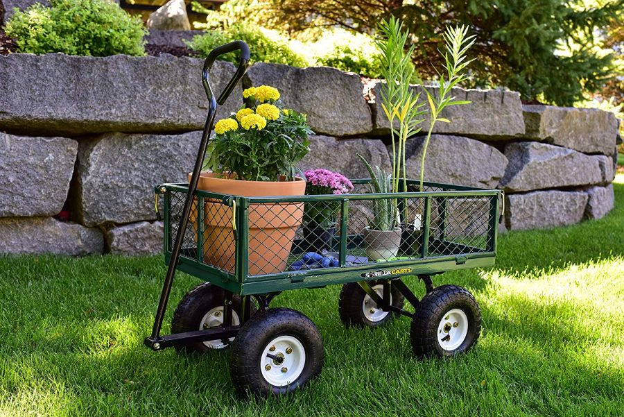15 Steel Garden Cart with Removable Sides