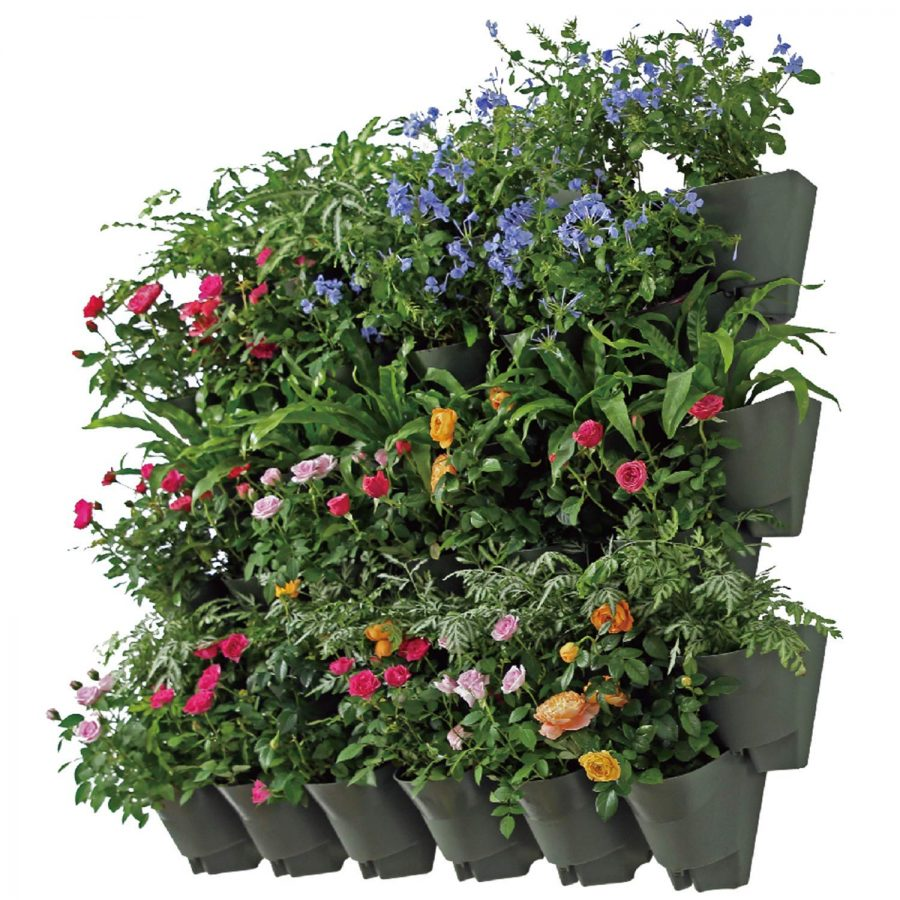 21 SELF Watering Vertical Wall Hangers with Pots Included