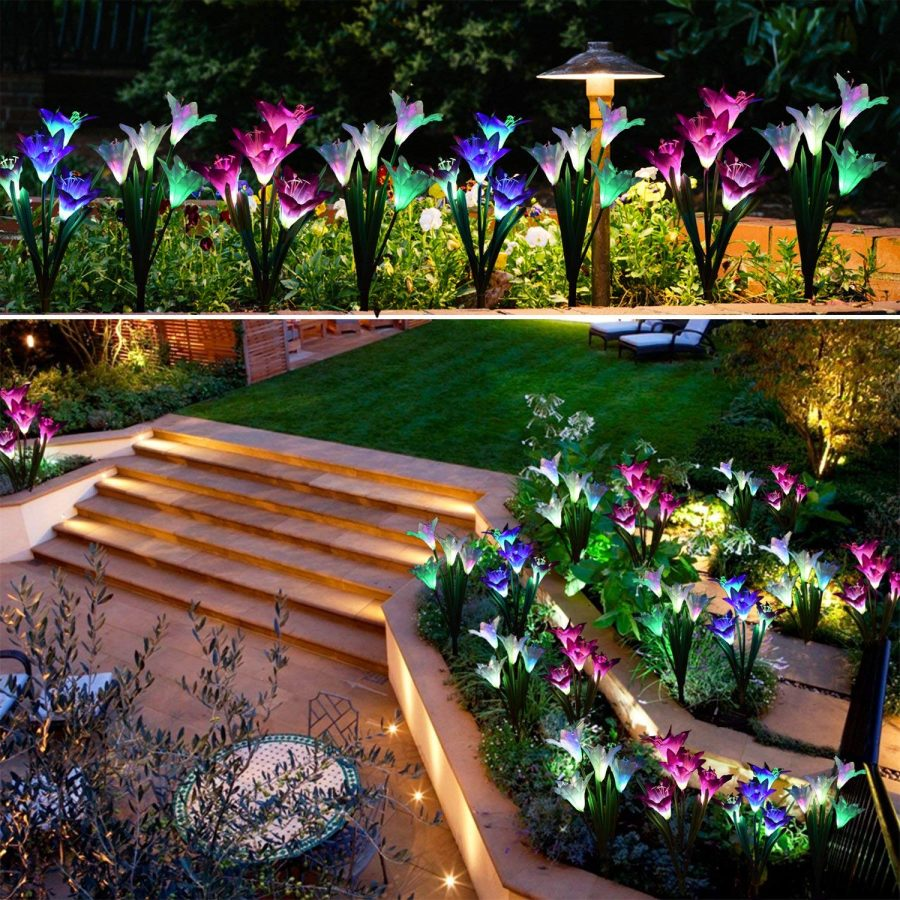 25 Outdoor Solar Garden Stake Lights