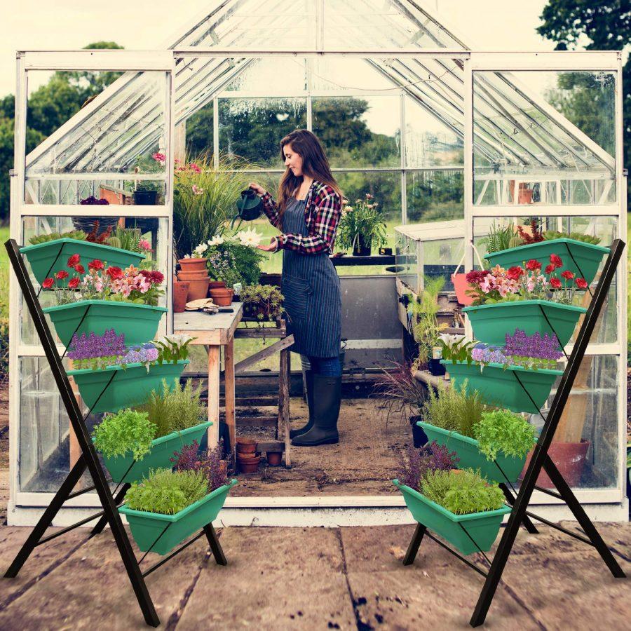30 Vertical Garden Freestanding Elevated Planter
