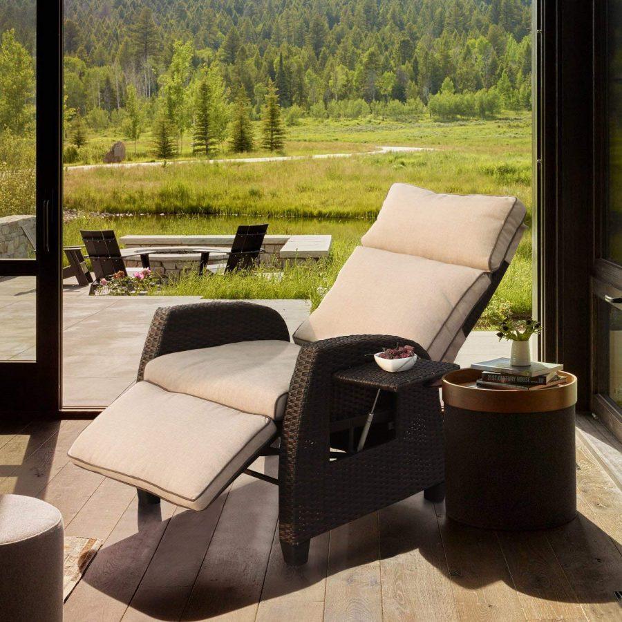 31 Relaxing Outdoor Adjustable Wicker Recliner Sofa