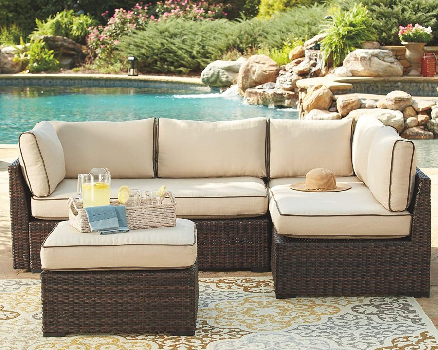 34 Ashley Loughran Outdoor Sectional Set
