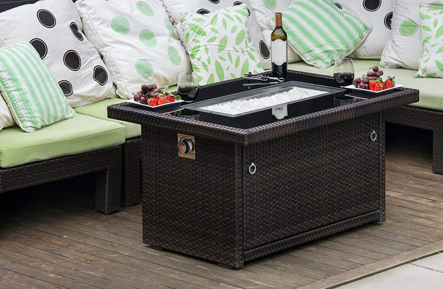 Outland Living Propane Gas Fire Pit Table