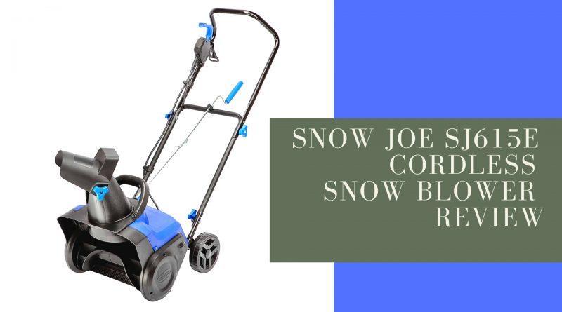 Snow Joe SJ615E Cordless Snow Blower Review