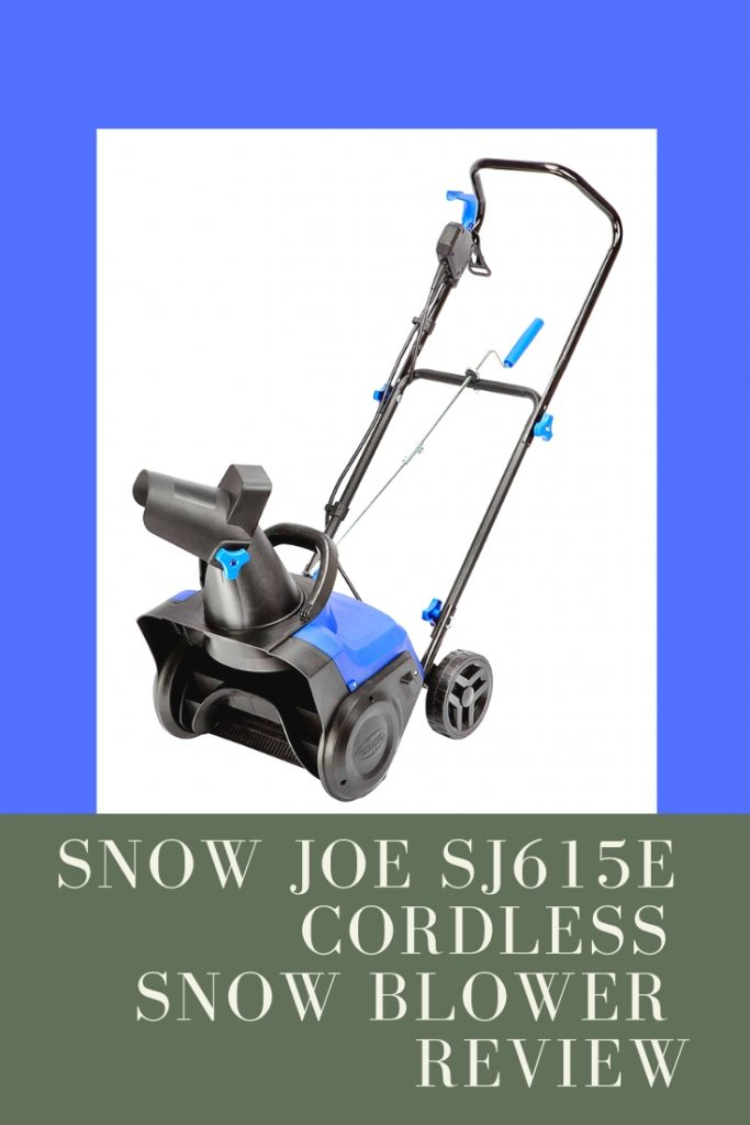 Snow Joe SJ615E Cordless Snow Blower Review